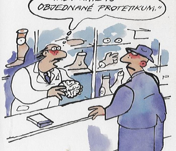 objednané protetikum – mozek